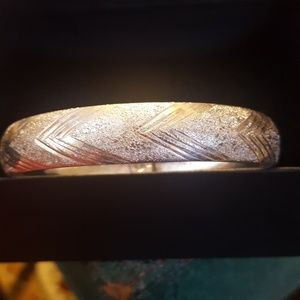 """Jewelry - Sterling bangle bracelet for large wrist 8.5""""round"""